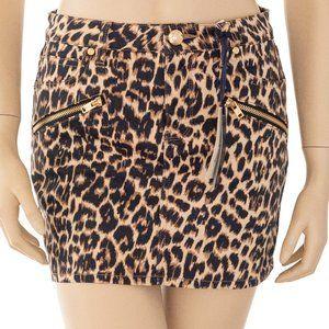 Juicy Couture Leopard Denim Mini Skirt 6-8